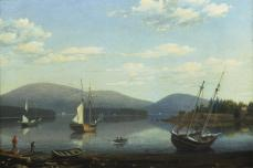 Fitz Hugh Lane; Somes Harbor, Maine; 1850; oil on canvas