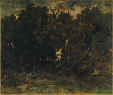 Théodore Rousseau; Marshlands; oil on wood panel; 15.9 x 24.6 cm; The Cleveland Museum of Art