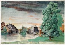 Albrecht Dürer; Willow Mills on the Pegnitz; c.1496-8; watercolor and gouache on paper; 251 x 367 mm; Bibliothèque national de France