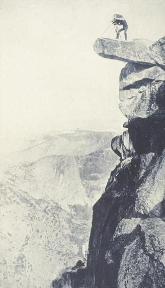 William H. Jackson; Photograph of Artist, Anonymous Yosemite Observation Point