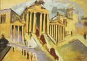 Ernst Ludwig Kirchner; Brandenburg Gate, Berlin; 1915; oil on canvas; 20 x 27.5 in.