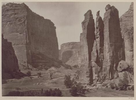 Timothy O'Sullivan; Canon de Chelle, Walls of the Grand Canon about 1200 feet in height; 1873; albumen print; 20.1 x 27.6 cm; George Eastman House