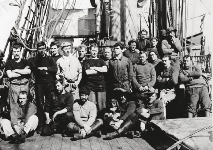 Ponting, Herbert Scott's Antarctic 1910. Some of the crew members from the Terra Nova expedition.