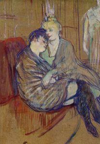 The Two Girlfriends 1894 oil on cardboard