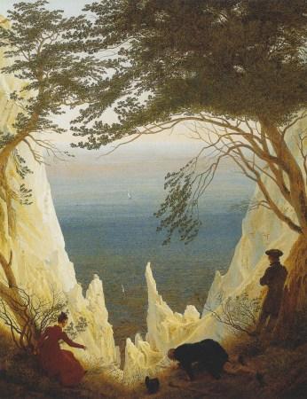 Caspar David Friedrich; Chalk Cliffs on Rugen; 1818; oil on canvas; 90.5 x 71 cm