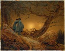 Caspar David Friedrich; Two Men Observing the Moon; 1819-20; 35 x 44.5 cm; Staatliche Kunstsammlungen Dresden
