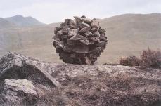 Andy Goldsworthy; Stacked Stone; 1980; Blaenau Ffestiniog, Wales