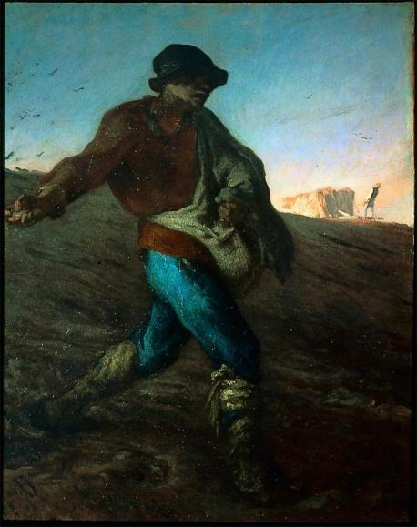 Jean-François Millet; The Sower; 1850; oil on canvas; 101.6 x 82.6 cm; Museum of Fine Arts, Boston