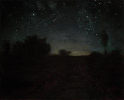 Jean-François Millet; Starry Night; c.1850-65; oil on canvas; Yale University Art Gallery