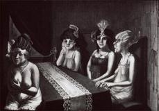 Otto Dix; Salon I; 1922; oil on canvas;