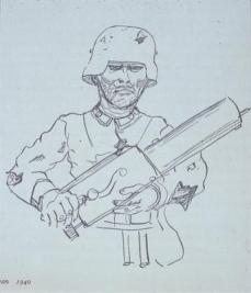 Otto Dix; Self-Portrait as Soldier; 1917