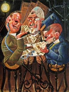 Otto Dix; Crippled War Veterans Playing Cards; 1920; oil on montage; 110 x 87 cm
