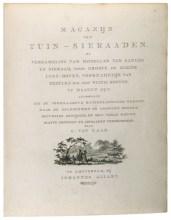 G. van Laar; Magazijn van Tuin-Sieraden, Amsterdam, 1802