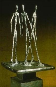 Alberto Giacometti; Group of 3 Men II; 1949; bronze; Kunsthalle Basel