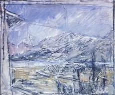 Alberto Giacometti; Landscape; 1953; oil on canvas