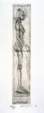 Alberto Giacometti; Nude in Profile; 1955; etching; 30.8 x 5.6 cm; Fine Arts Museum of San Francisco