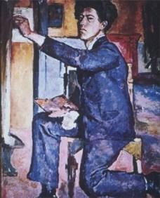 Alberto Giacometti; Self-Portrait; 1921; oil on canvas