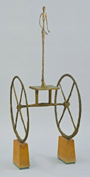 Alberto Giacometti; The Chariot; 1950; painted bronze on wood base; 144.8 x 65.8 x 66.2 cm; The Museum of Modern Art