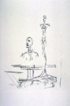 Alberto Giacometti; The Search; 1965; Etching; 25.3 x 19.5 cm; Fine Arts Museums of San Francisco