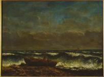 Jean Gustave Courbet; Stormy Sea, or The Wave; 1870; oil on canvas; 71 x 103 cm