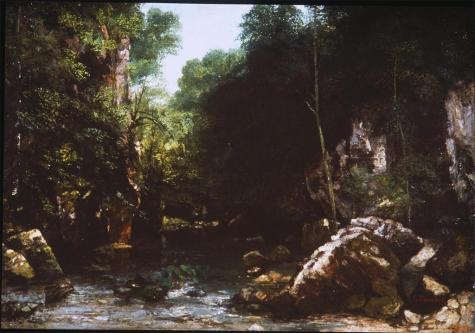 Jean Gustave Courbet; Covered Stream; 1865; 94 x 135 cm