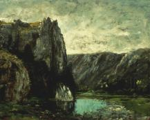 Jean Gustave Courbet; Landscape; c.1867; oil on canvas; 21 x 25 in.