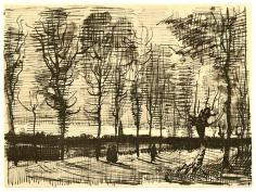 Vincent van Gogh; Untitled (landscape sketch from letter to Theo); 1884; pen and ink on paper