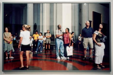 Thomas Struth; Audience 6 (Gallerie Dell'Accademia), Florence; 2004; c-print mounted on UV plexiglass