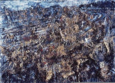 Anselm Kiefer; Die Meistersinger; 1982; oil, acrylic, straw, canvas; 110 x 150 cm