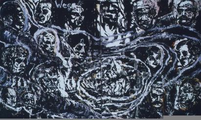 Anselm Kiefer; Wege I; 1977; oil on paper on linen; 63 x 102 inches