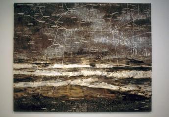 Anselm Kiefer; Andromeda; 2001; oil, emulsion, acrylic on lead on canvas; 155.5 x 196.75 cm