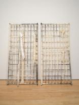 Doris Salcedo; Untitled; 1989-1993; animal material, plaster, steel, and button-down shirts; 200.03 x 177.8 x 10.16 cm; San Francisco Museum of Modern Art