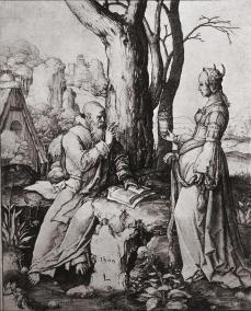 Lucas van Leyden; The Temptation of Saint Anthony; 1509; engraving