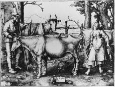 Lucas van Leyden; The Milkmaid; 1510; engraving; 115 x 155 mm