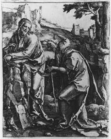 Lucas van Leyden; The Temptation of Christ; 1518; engraving