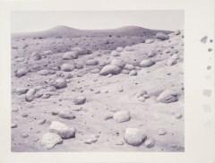 "David Clarkson Rocks on Hill, Mars ink on paper 2996 15"" x 19"