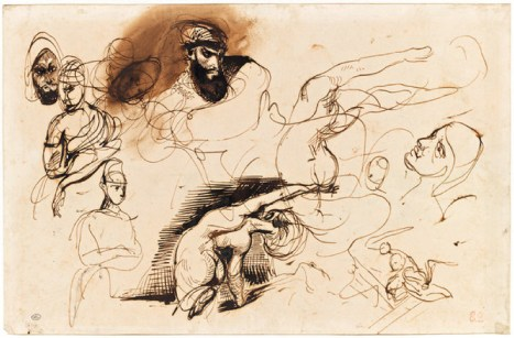 """Delacroix's study for """"The Death of Sardanapalus"""