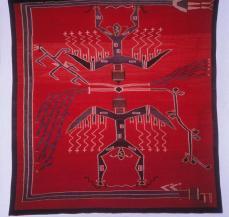 Sandpainting weaving, Navajo