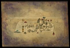 All Souls' Picture; [Allerseelen Bild] Date 1921 Material Watercolor and transferred printing ink on paper, bordered with ink Measurements H. 12, W. 17-7/8 inches (30.5 x 45.4 cm.)