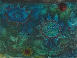 (Blossoms in the Night) Work Type painting Date 1930 Material watercolor and ink on prepared ground on paper mounted on board Measurements 9 1/4 in. x 12 1/4 in. (23.5 cm x 31.12 cm)