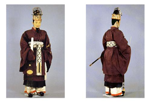 出典:養老の衣服令による文官礼服・奈良時代・服制の成立 日本服飾史 資料・風俗博物館~よみがえる源氏物語の世界~