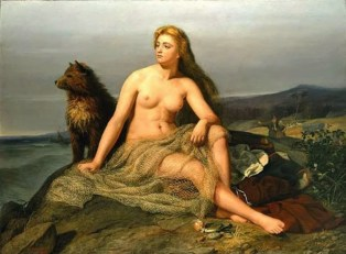 Kråka, daughter of Sigurd by Mårten Eskil Winge