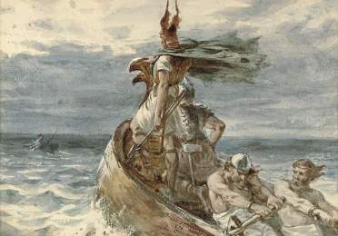 Vikings Heading for Land (Frank Dicksee)