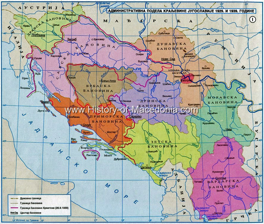 map of yugoslavia 1939 vardarska