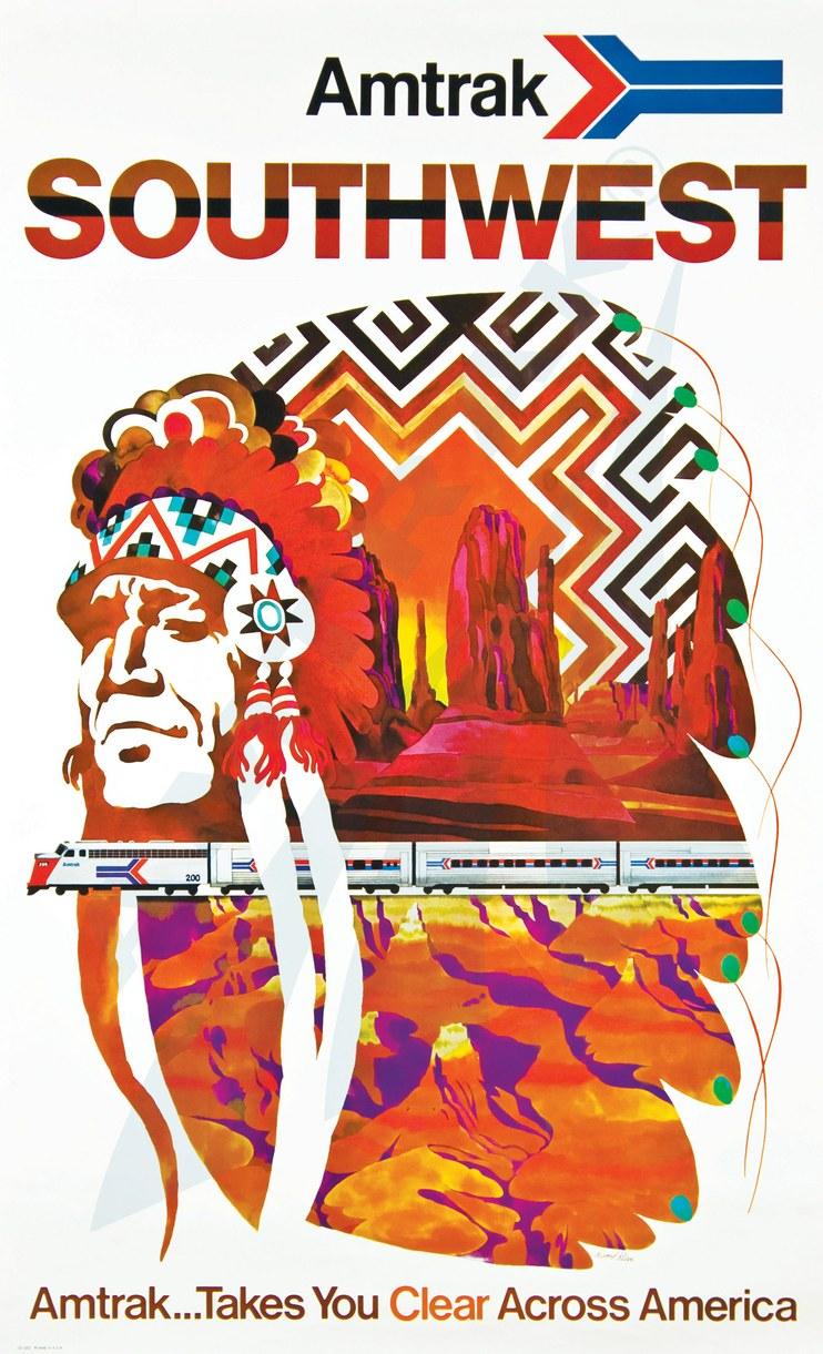 Amtrak Southwest 1973 poster