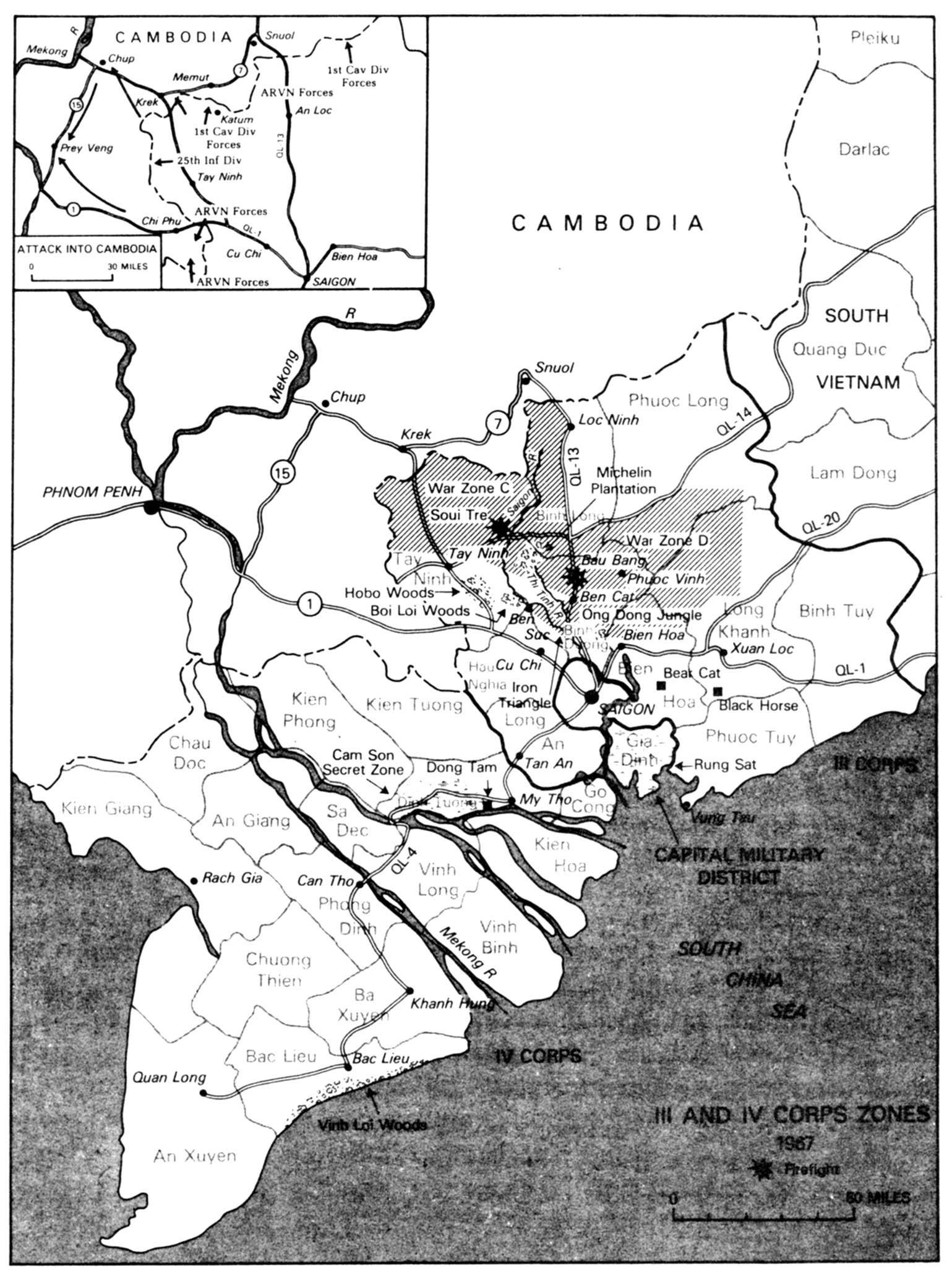 Iii An Iv Corps Zones