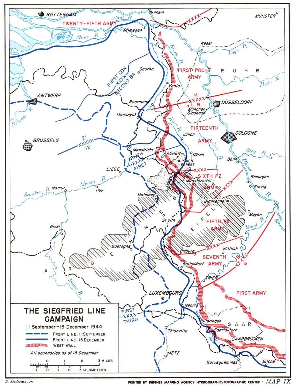 The Siegfried Line Campaign Maps