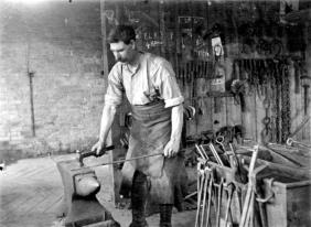 Charlie Browning in the Smithy, 1919-1920