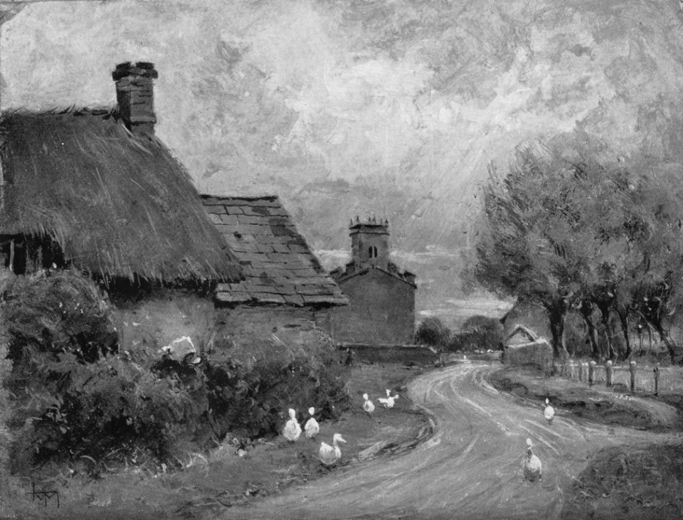 'The Main Street of Cerdic's Island' by JM Macintosh, RBA From 'Islands of the Vale' by Eleanor G Hayden. 1908