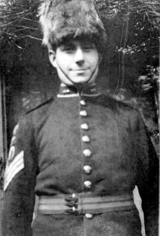 Charlie Browning Jnr in his father's Hussar uniform, 1920s